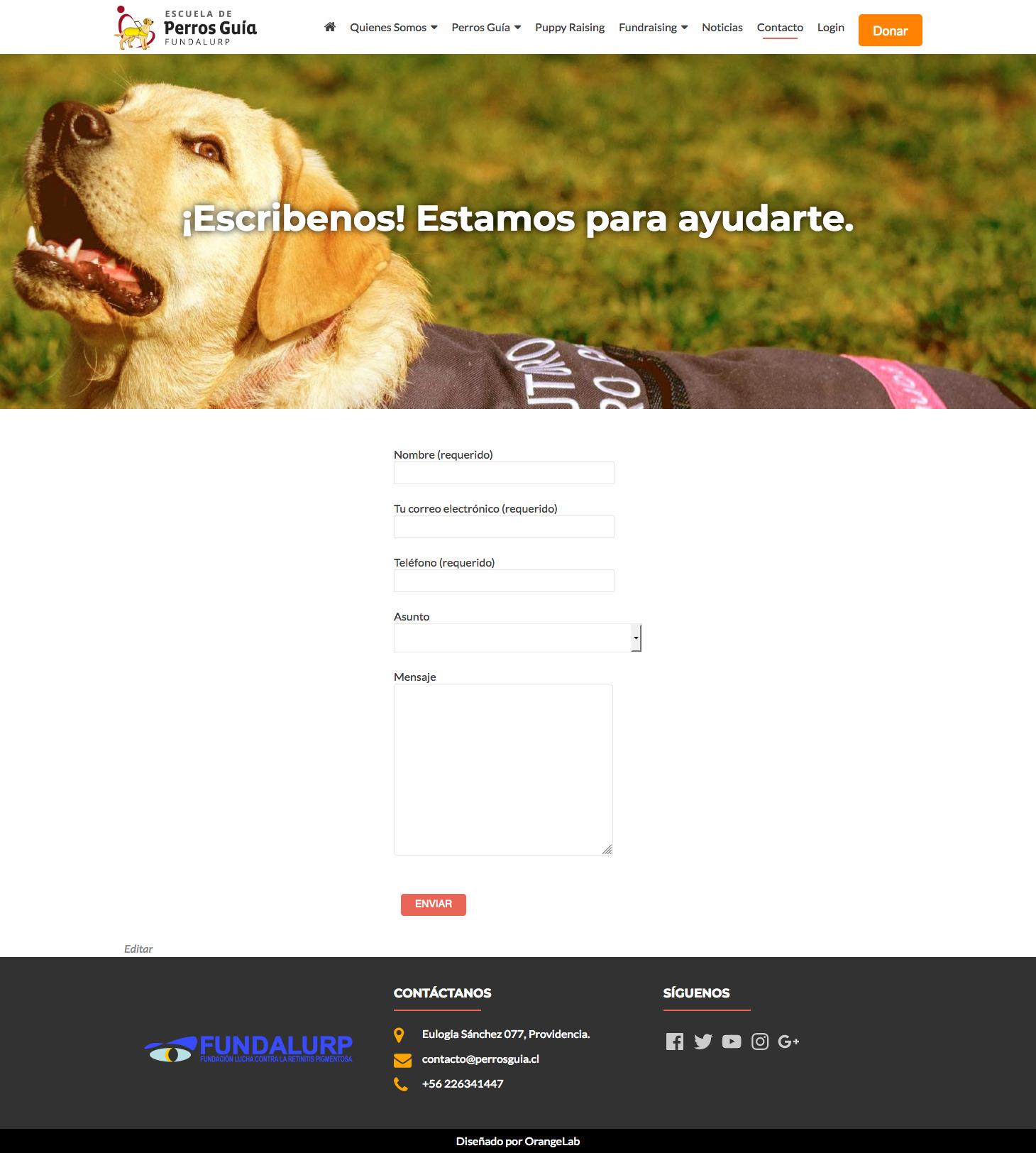 Screenshot_2018-07-15 Contacto - Escuela de Perros Guía Fundalurp